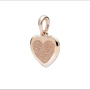 Pandora Matte Brilliance Heart Pendant
